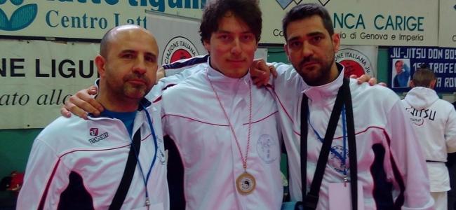 """Michele Bisciotti medaglia d' oro al trofeo internazionale di Ju Jitsu """" Andrea Rola """" di  Genova"""